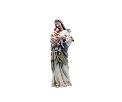 Maria met kind en schaap 15 cm