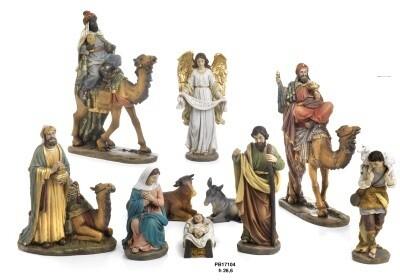 Set van 10 figuren  27 cm