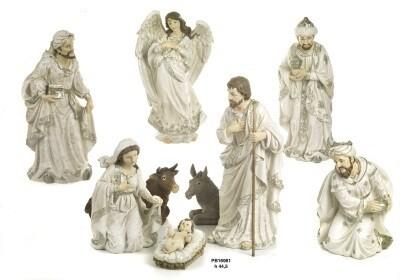 Set van 9 figuren 45 cm