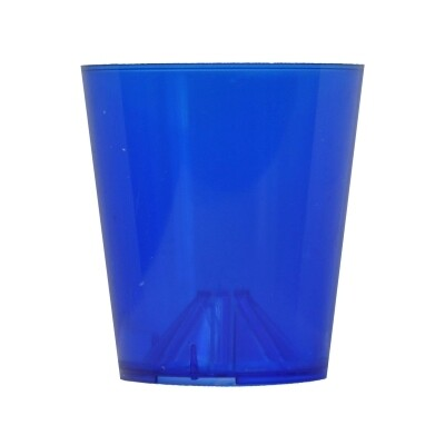 Vlambeschermer blauw transparant plastic PER 10 STUKS