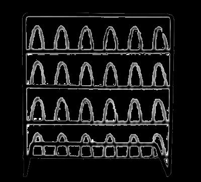 Vingerhoed-rekje in metaal zwart