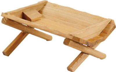 Kribbe in hout 11x7x5 cm