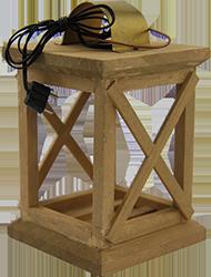Lantaarn HOUT 11.5 cm