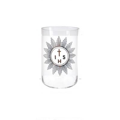 Glas voor kaars 12 cm - Godslamp -