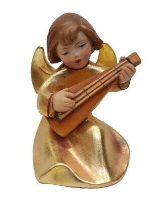 Engel houtsnijwerk 14 cm GOUD