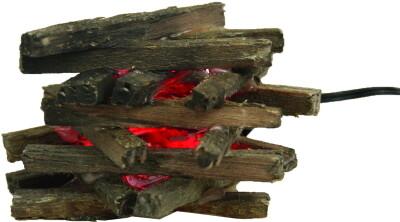 Kampvuurtje   met LED rood