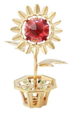 BLOEM Swarovski® Crystals - 24 K Verguld