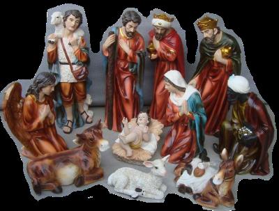 Kerstset van 11 figuren 101 cm