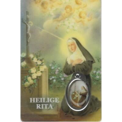 Rita met Medaille en Gebed