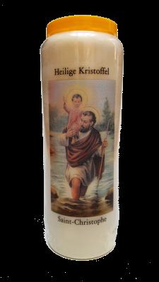 Noveenkaars KRISTOFFEL MET GEBED IN NEDERLANDS EN FRANS