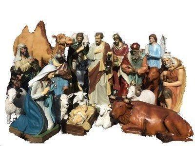 Kerstset van 21 figuren KER-ELM280-160