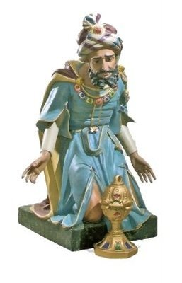 Koning blauw geknield KER-ELM300-120-5