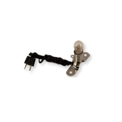 Lampje WIT met voet en snoer  1.5V fitting E10
