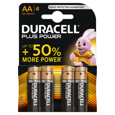 Duracell Batterijen  -Pack van 4-  LR6 of