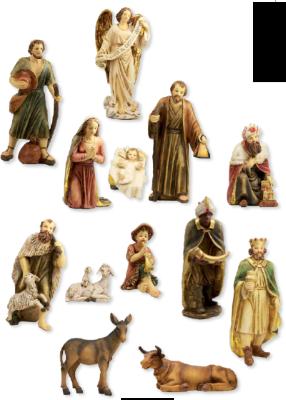 Set van 13 figuren  20 cm
