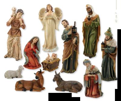 Set van 11 figuren  60 cm