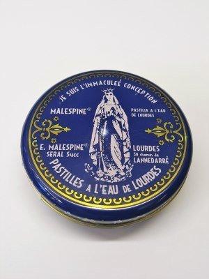 Doosje in metaal Pastilles van Lourdes 100gr