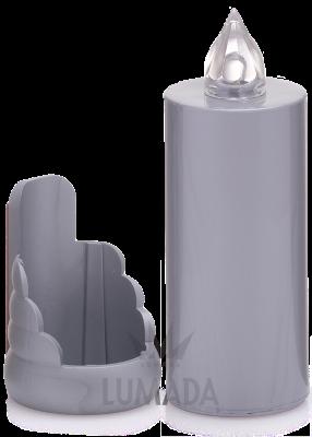 Licht op batterijen Ø 32 x 90 mm + SOKKEL om te kleven-KIES DE GEWENSTE KLEUR-
