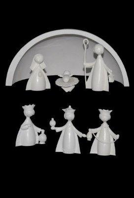 6 figuren met stal