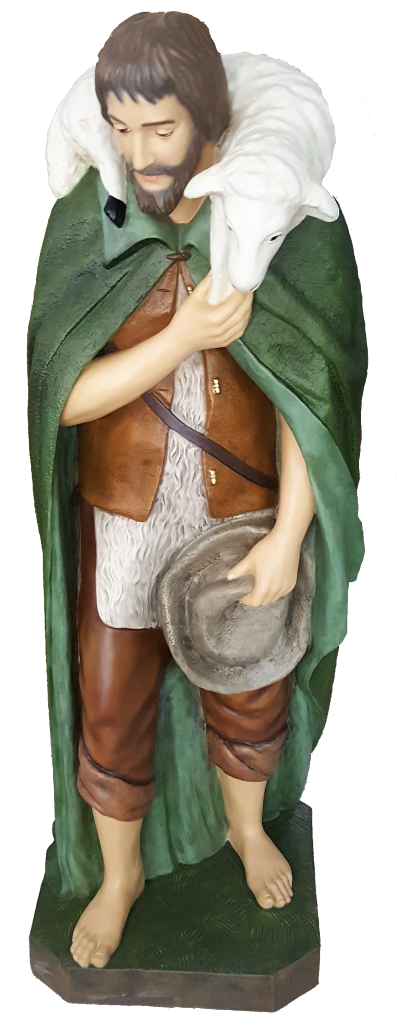 Herder met schaap staand KER-ELM280-160-23