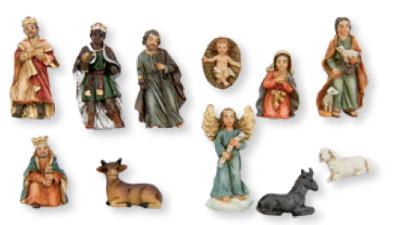 Set van 11 Figuren   3.5 cm