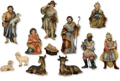 Set van 12 Figuren Johannes Krippe    10 cm