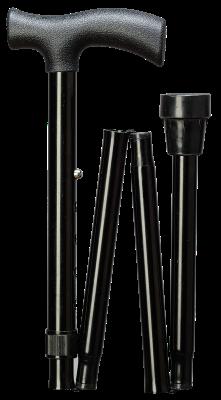 Plooibare wandelstok zwart 85 cm - 95 cm