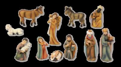 Set van 11 figuren  6.5 cm