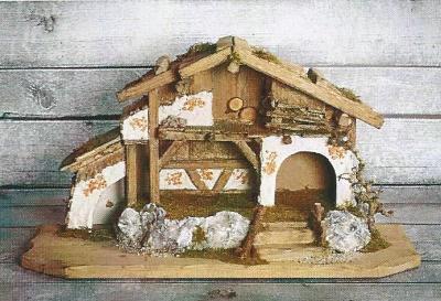 Kerststal AITERHOFEN   60 x 25 cm   voor 8 cm figuren