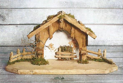 Kerststal DURNHART   50 x 20 cm   voor 10 - 12 cm figuren