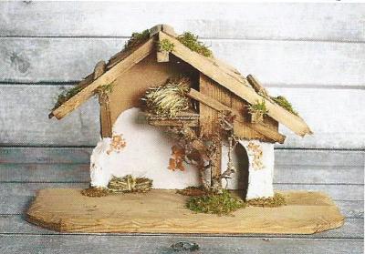 Kerststal KOCHELSEE  50 x 20 cm   voor 10-12 cm figuren