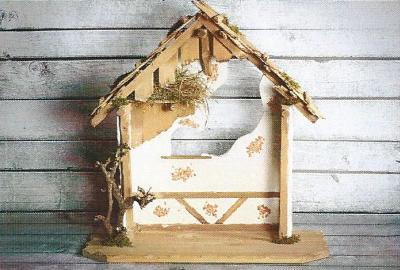 Kerststal ST.MICHAEL  66 x 30 cm   voor 30 cm figuren