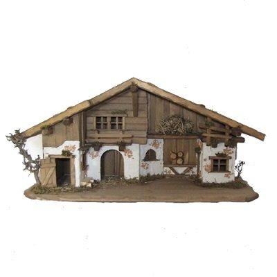 Kerststal BERGWANG GROOT 80x31x40 cm   voor 10-13 cm figuren