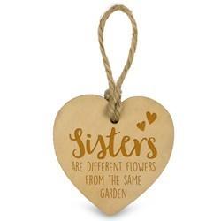 Sisters   - Houten Engeltje met Koordje     15 x 2.5 x 20 cm   € 1.99