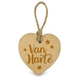 Van Harte   - Houten Engeltje met Koordje     15 x 2.5 x 20 cm   € 1.99