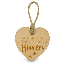 Buren   - Houten Engeltje met Koordje     15 x 2.5 x 20 cm   € 1.99