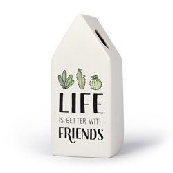 Vriendschap - Huisvaasje in porselein 6.6 x 6.5 x 15 cm