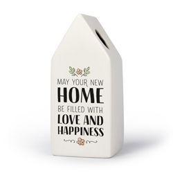Nieuwe Woning - Huisvaasje in porselein 6.6 x 6.5 x 15 cm