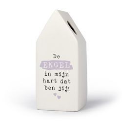 Engel - Huisvaasje in porselein 6.6 x 6.5 x 15 cm
