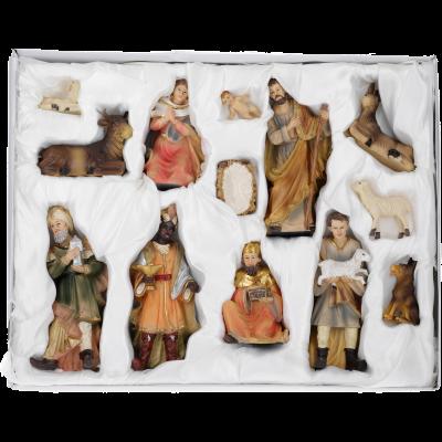 Lukas Krippe   Set van 12 figuren   9 cm