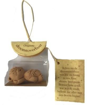 Droomtoverbeer Liggend in Terracotta   5 cm