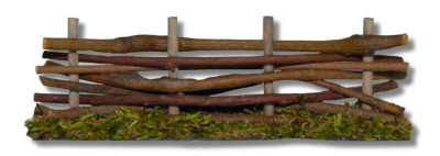 Hek in hout  lengte 14 cm