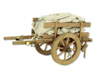 Wagen met lading 13 x 6 x 8 cm   lxbxh