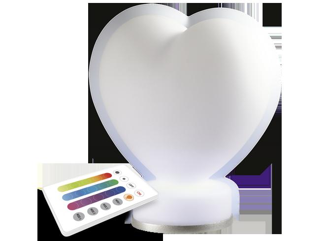 Декоративный светильник Jazzway св-к AmbiJAZZ AJ1-RGB-ST08 (сердце) пульт ДУ