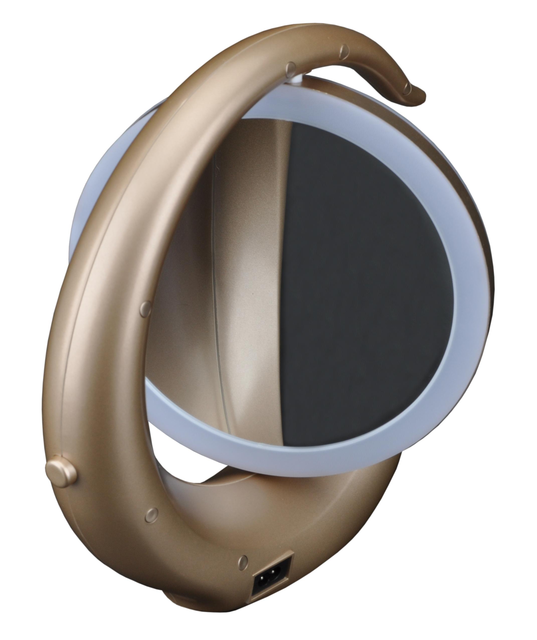 Зеркало настольное со светодиодной подсветкой золото SBL-Mr-022-Golden