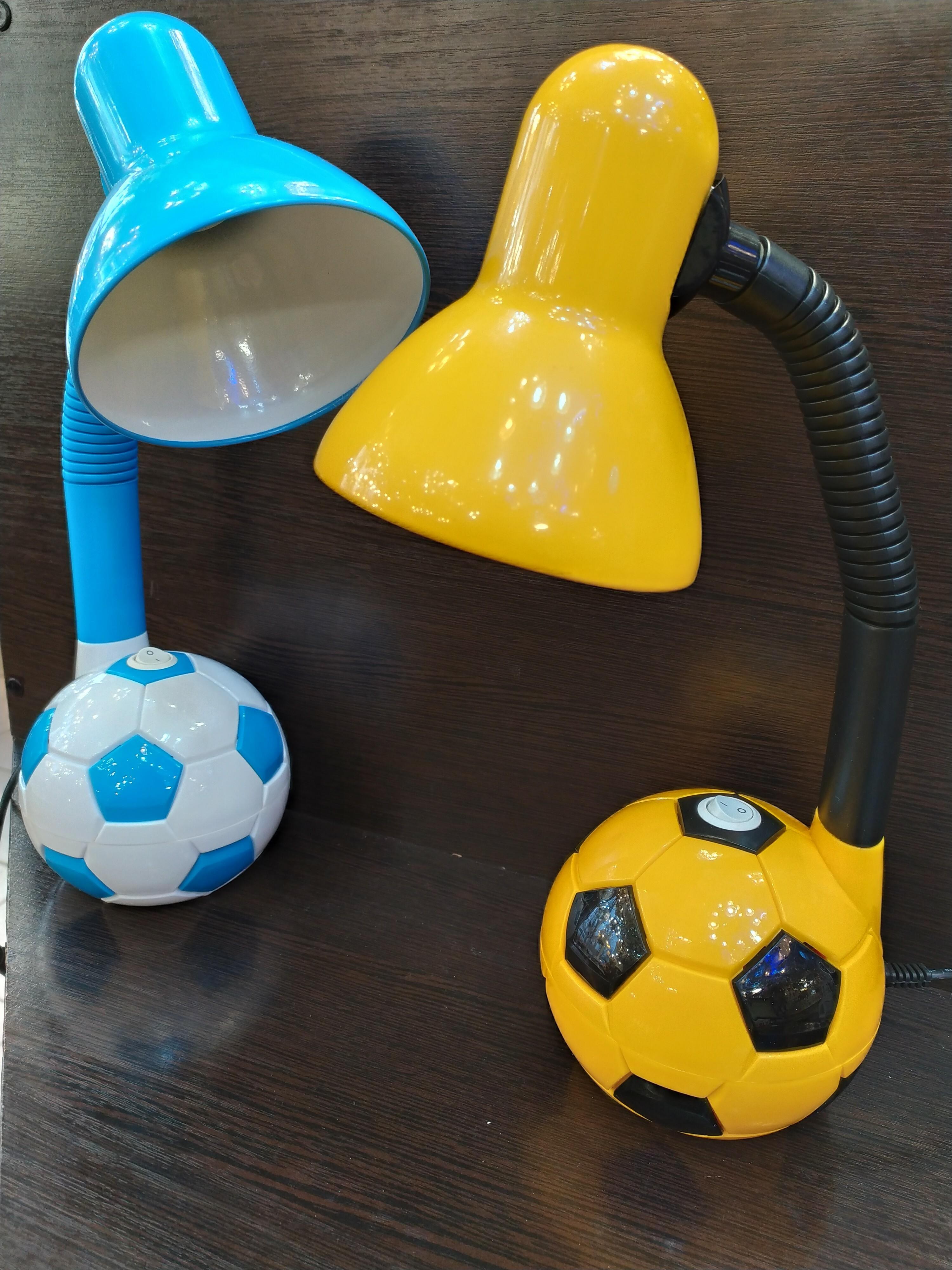 Ученическая лампа EN-DL14 голубая и желтая