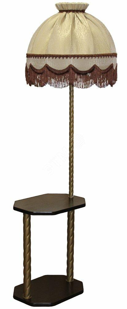Торшер со столиком шестигранник Венге 300537