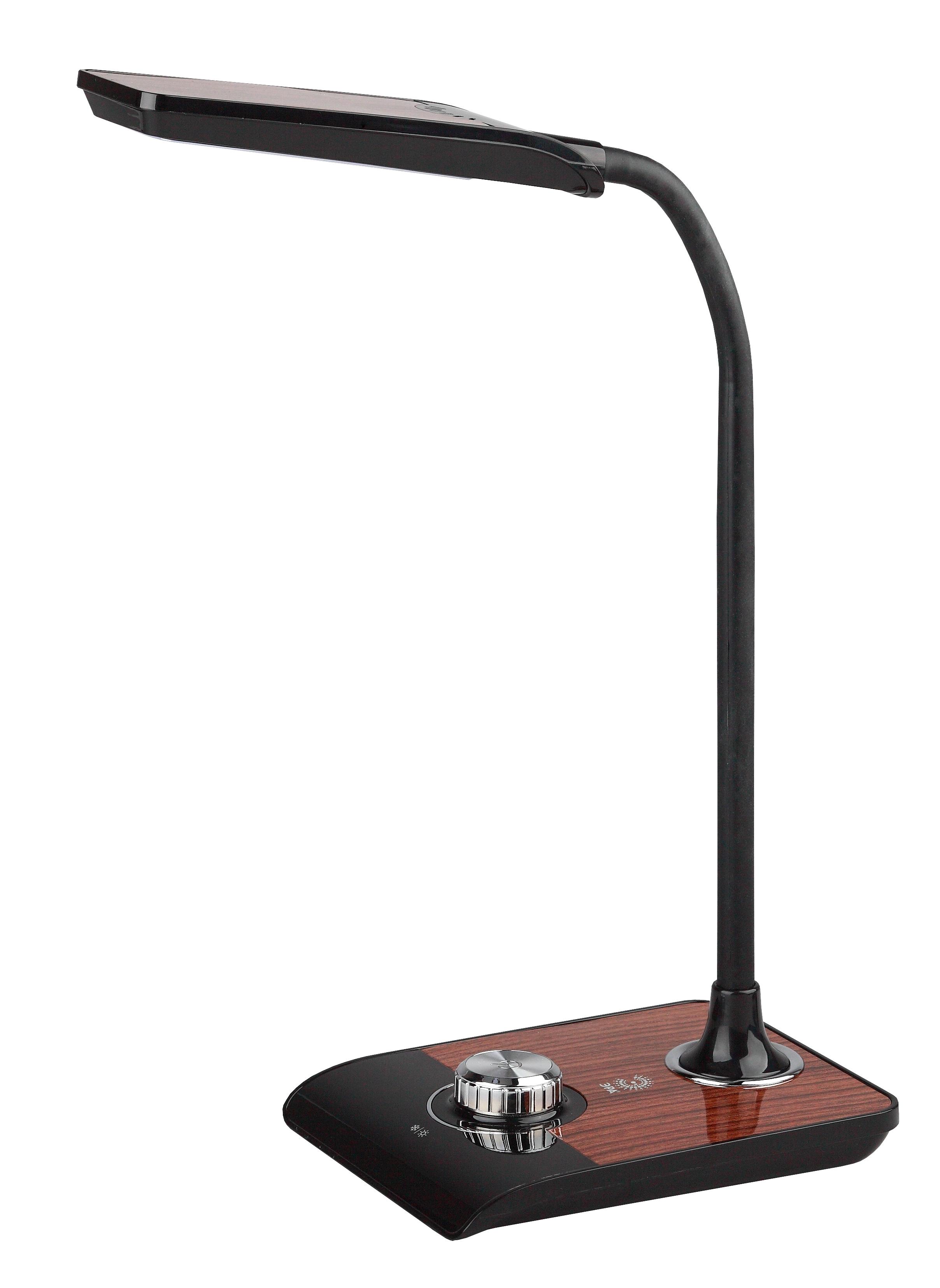 ЭРА  черный с деревом наст.светильник NLED-473-10W-BK
