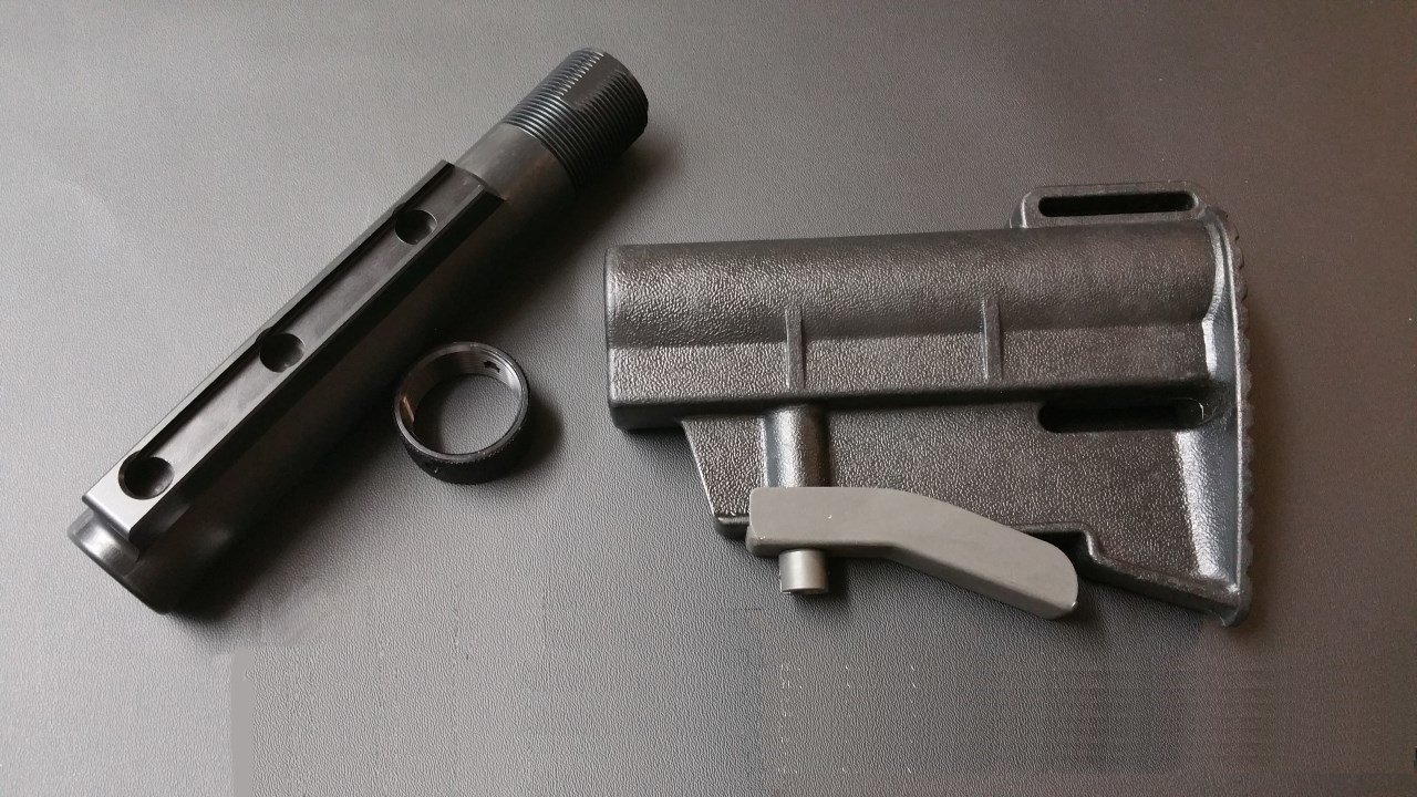 T91 Adjustable Stock (T91TS01) with 3 Position Carbine Length Buffer Tube (T91BT01) And End Plate Combo.
