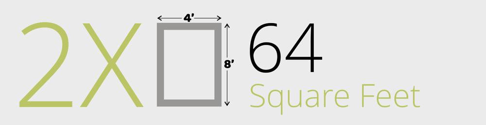 64 Square Foot Garden Bed 64-SQFT